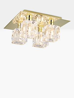 779302b0e0ad John Lewis & Partners Cuboid Semi Flush Ceiling Light, ...