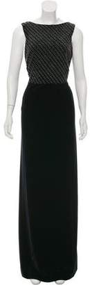 Armani Collezioni Sleeveless Embellished Gown