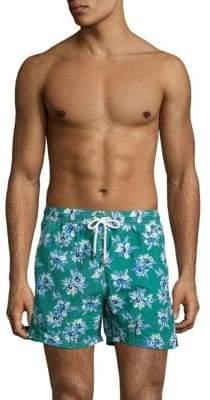 Isaia Floral-Print Swim Trunks