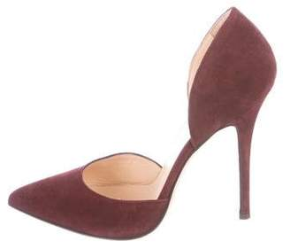 Barneys New York Barney's New York Suede d'Orsay Pumps