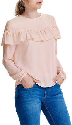 Only Sui Long Sleeve Ruffle Top