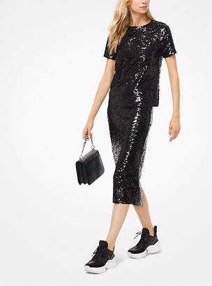 Michael Kors Sequined Jersey T-Shirt