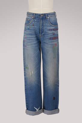 Gucci 80s embroidered jeans