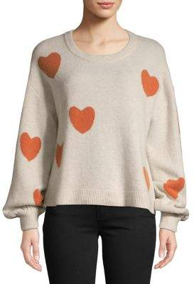 Madewell Heart Patterned Long-Sleeve Sweater