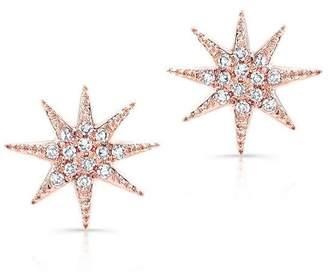 Anne Sisteron Diamond Star Stud Earrings