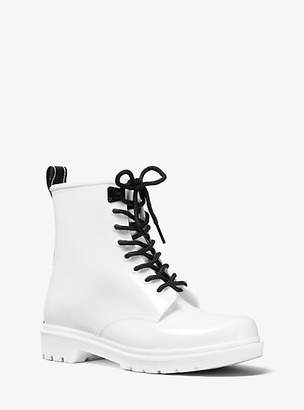 Michael Kors Tavie Logo Tape Lace-Up Rain Boot