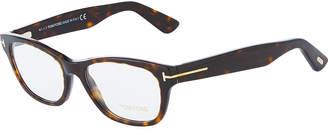 Tom Ford Round Tortoiseshell Acetate Optical Glasses