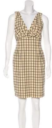 Lida Baday Sleeveless Checkerboard Dress
