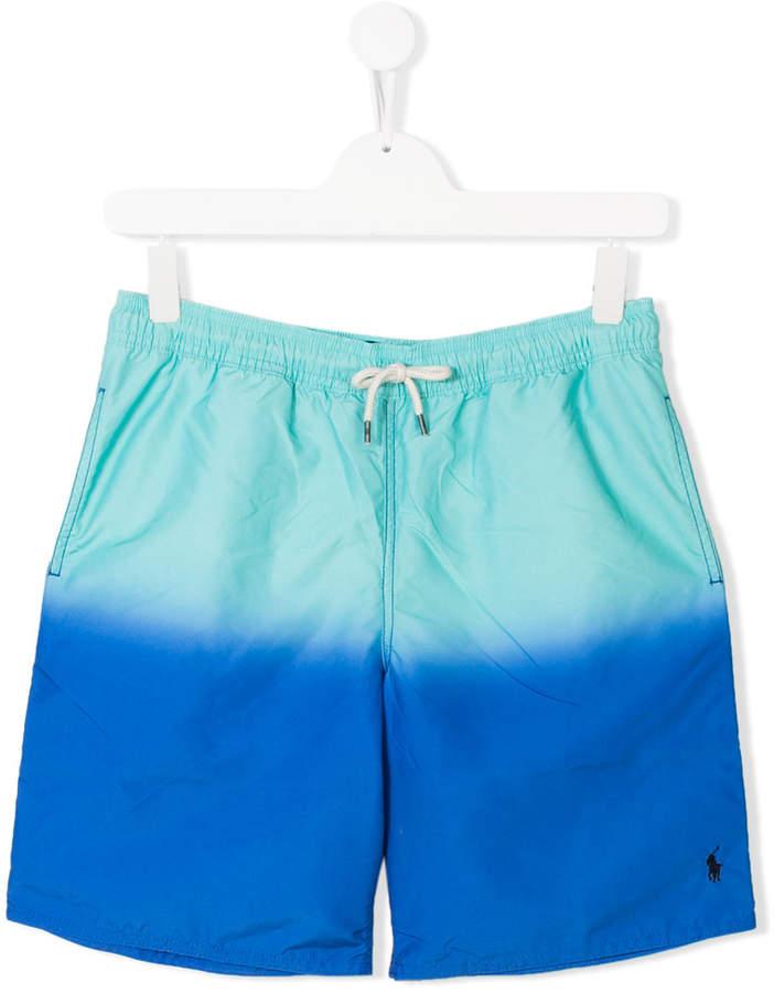 TEEN dégradé drawstring shorts