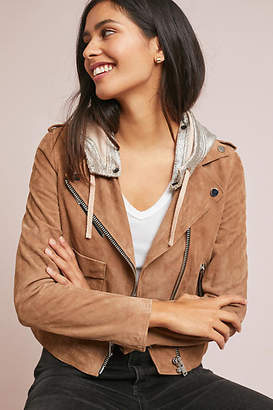 Anthropologie Doma Hooded Suede Jacket