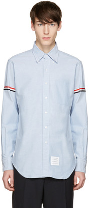 Thom Browne Blue Oxford Grosgrain Classic Shirt $450 thestylecure.com