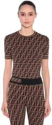 Fendi Logo Printed Knit Sweater