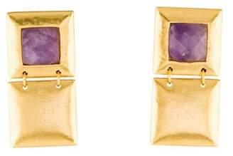 Stephanie Kantis Flapper Double Amethyst Earrings
