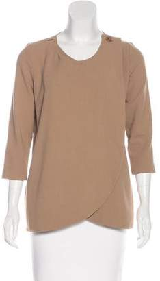 Rodebjer Scoop Neck Long Sleeve Top