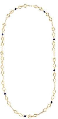 Lapis 14K Pearl & Station Necklace