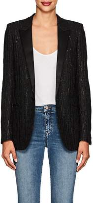 Saint Laurent Women's Sequin-Embellished Tweed Blazer