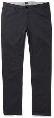HUGO BOSS Slim-Fit Stretch-Cotton Twill Trousers