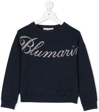 Miss Blumarine embellished logo sweatshirt