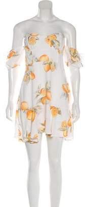 For Love & Lemons Printed Off-The-Shoulder Dress w/ Tags