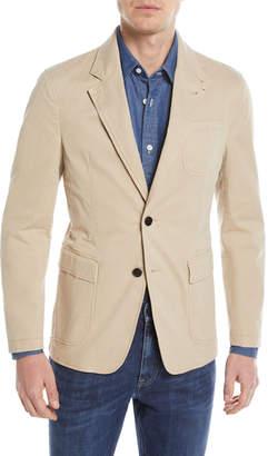 Khaki Two-Button Blazer