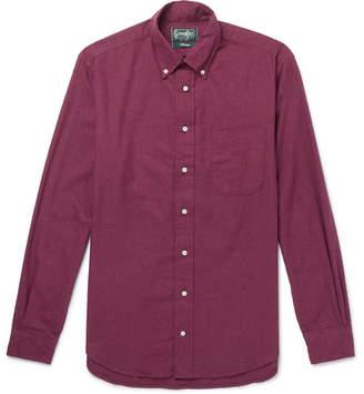 Gitman Brothers Slim-Fit Button-Down Collar Cotton-Flannel Shirt - Men - Burgundy