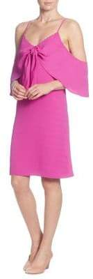 Catherine Malandrino Eden Knotted-Drape Off-Shoulder Dress