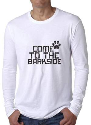Hollywood Thread Come To The Barkside Trendy Dog Lover Men's Long Sleeve T-Shirt