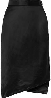 Vivienne Westwood - Polina Asymmetic Satin Skirt - Black