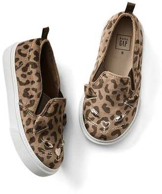 Cheetah cat slip-on sneakers $29.95 thestylecure.com