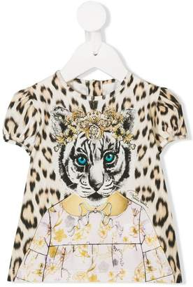 Roberto Cavalli Junior Animalier print T-shirt