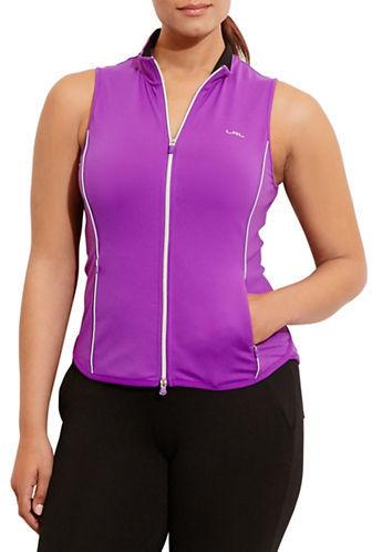 Lauren Ralph Lauren Plus Full-Zip Mockneck Vest