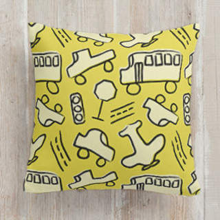 Chalky Transportation. Square Pillow