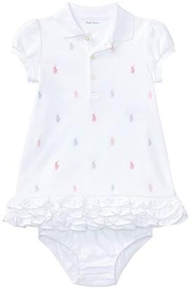 Ralph Lauren Baby Ruffled Polo Dress Bloomer (Infant)