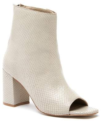 Matisse Melaney Snake Print Embossed Leather Bootie