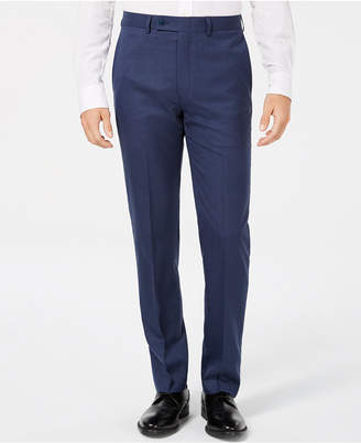 Calvin Klein Men's Slim-Fit Blue Solid Dress Pants