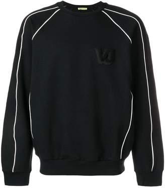 Versace piped trim raglan sweatshirt