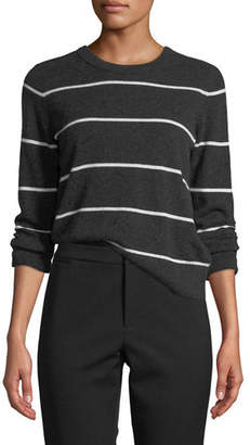 Vince Striped Cashmere Pullover Sweater