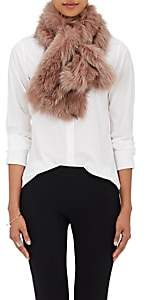 Barneys New York Women's Fox Fur Pull-Through Scarf - Pink