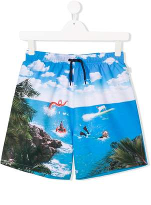 Paul Smith TEEN Sea Creature swim shorts