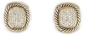 David Yurman Two-Tone Diamond Albion Earclip Earrings