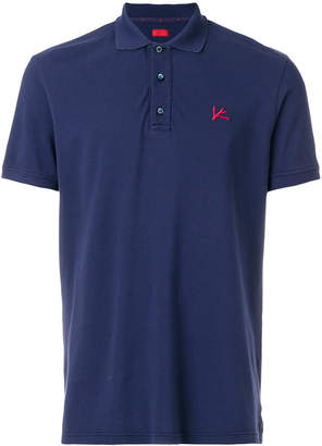 Isaia short sleeved polo shirt