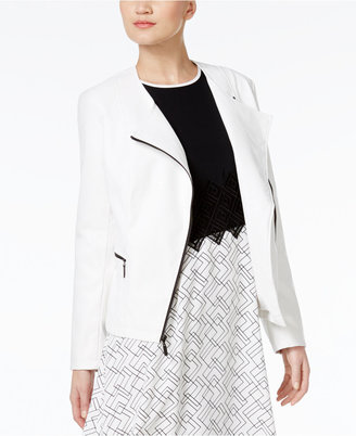 Alfani PRIMA Faux-Leather Moto Jacket, Only at Macy's $99.50 thestylecure.com