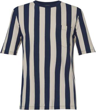 Ami Striped Cotton-Jersey T-Shirt