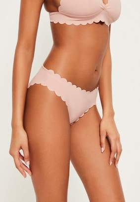Missguided Nude Scallop Hipster Bikini Bottoms Mix & Match