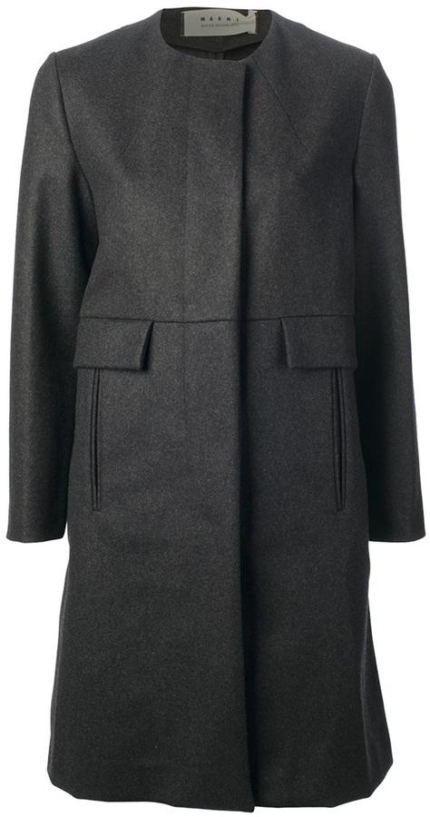 Marni round neck coat