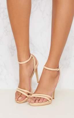 PrettyLittleThing Rose Gold Double Strap Platform Sandal