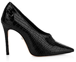 Schutz Women's Gleide Croc-Embossed Leather Pumps