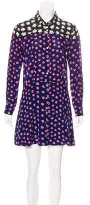 Sonia Rykiel Sonia by Silk Floral Print Dress