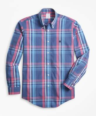 Brooks Brothers Non-Iron Regent Fit Plaid Sport Shirt