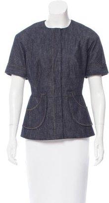 Derek Lam Short Sleeve Denim Jacket $125 thestylecure.com